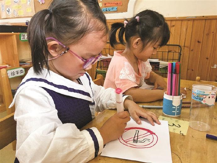 象山幼儿园开展无烟日宣教活动 劝导家人远离烟草