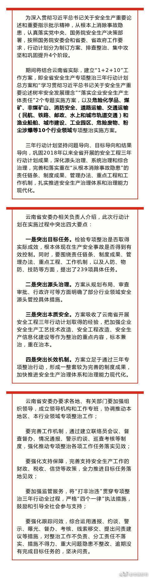 涉及10个行业领域!云南启动安全生产专项整治三年行动计划