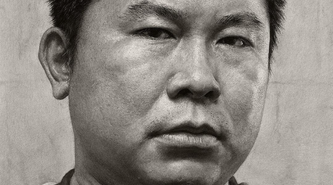 刘斌老师早期超写实素描肖像1——《自画像》