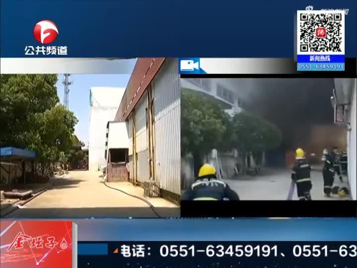 《新闻午班车》舒城全友家居厂房被烧毁  无人员伤亡