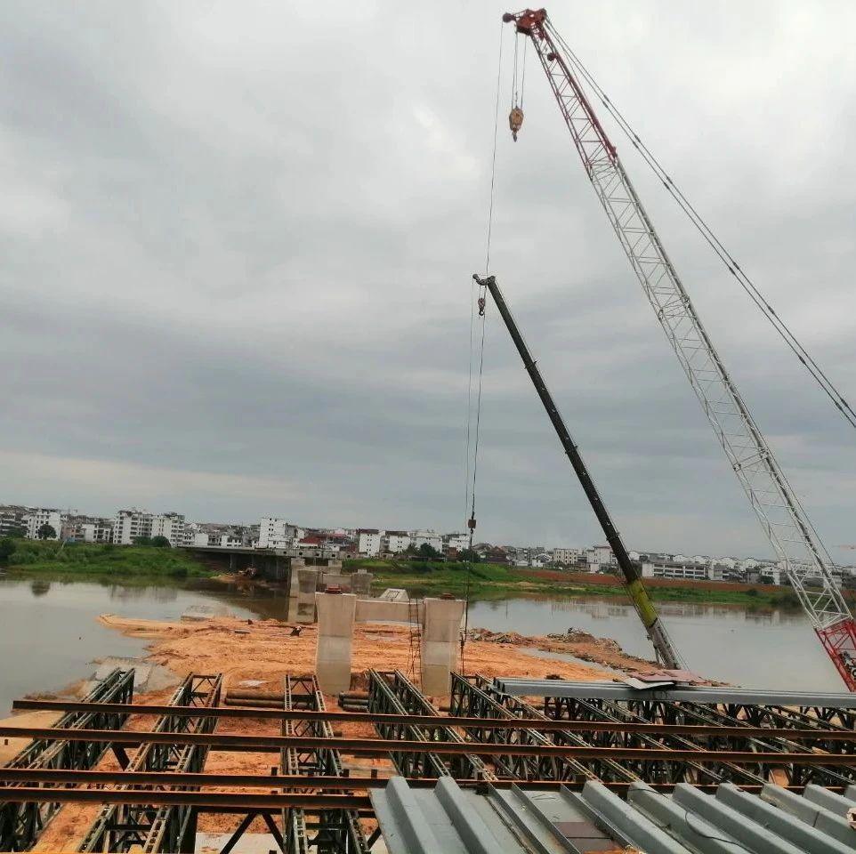 现场图传来!抚州中洲大桥建设最新进展 预计年底通车