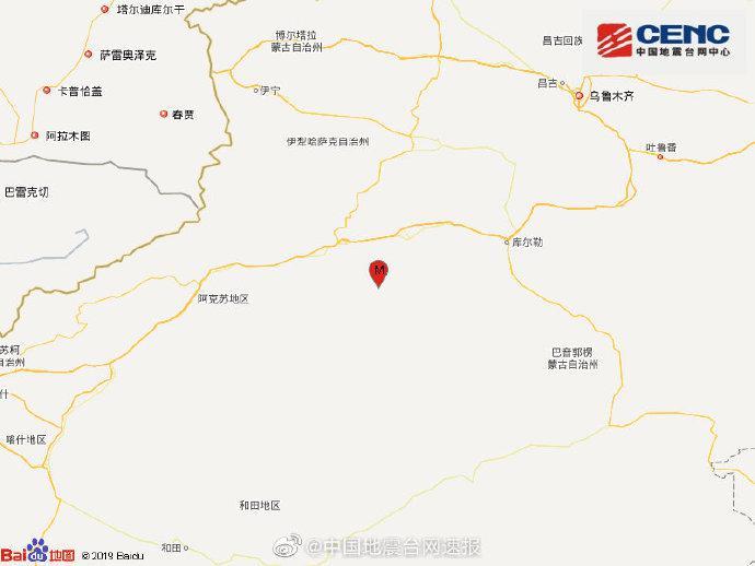 新疆阿克苏地区库车市发生3.0级地震,震源深度8千米图片
