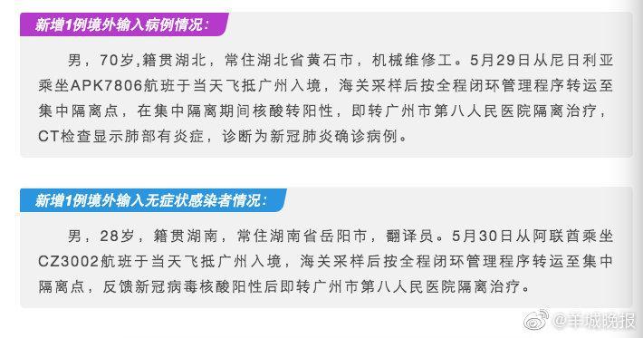 详情公布!6月3日广州新增境外输入确诊病例1例图片