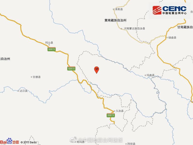 甘肃甘南州玛曲县发生3.1级地震,震源深度9千米图片