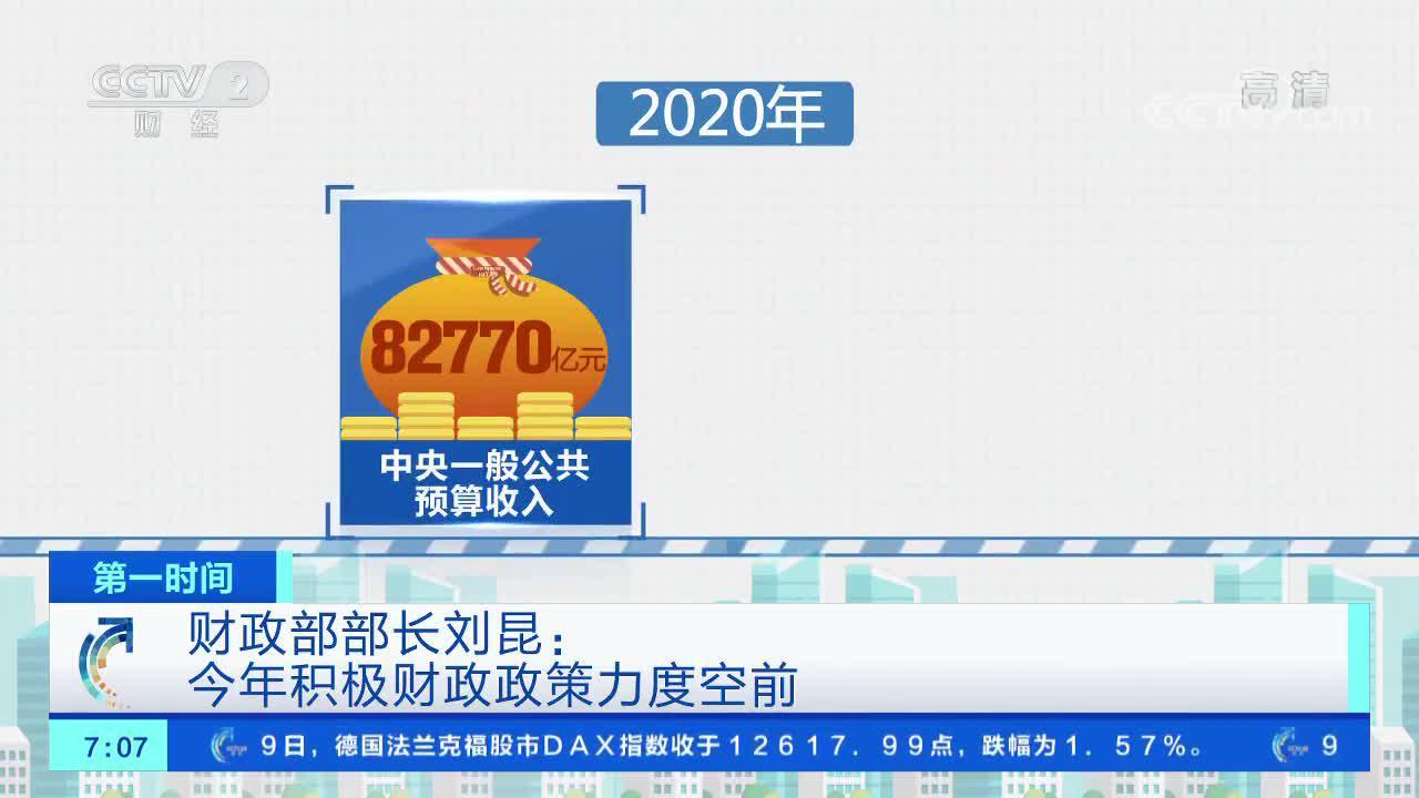 [第一时间]财政部部长刘昆:今年积极财政政策力度空前
