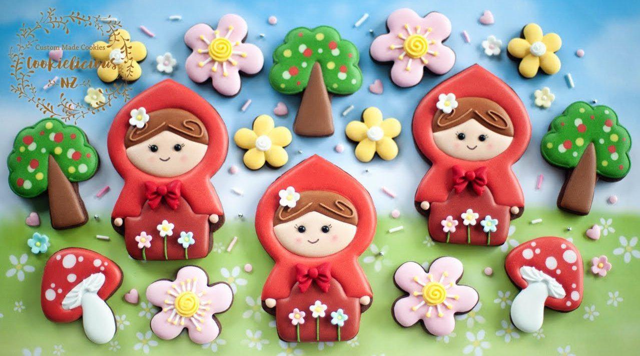 小花小树小蘑菇,还有超级可爱的小红帽~ 不快进的制作过程……
