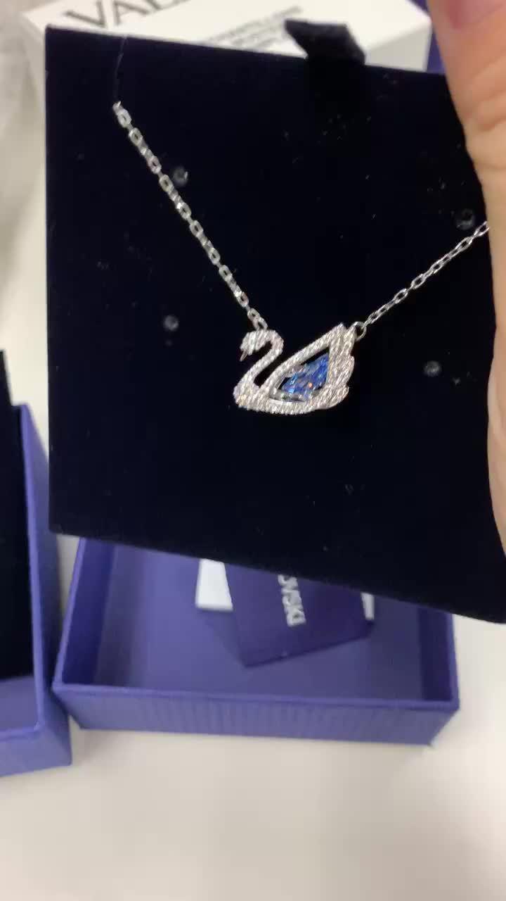 视频里是跳动的心125周年,施华洛世奇的纪念版项链,蓝天鹅2款