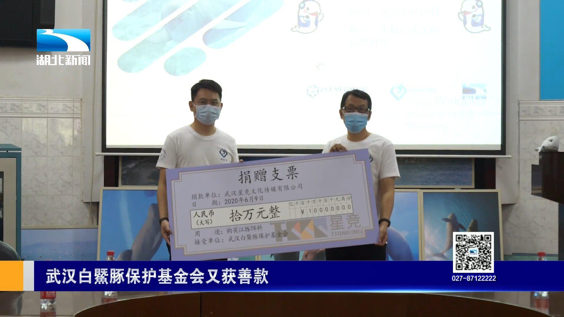 """义卖善款捐给""""微笑天使 """" 武汉白鱀豚保护基金会又获善款"""