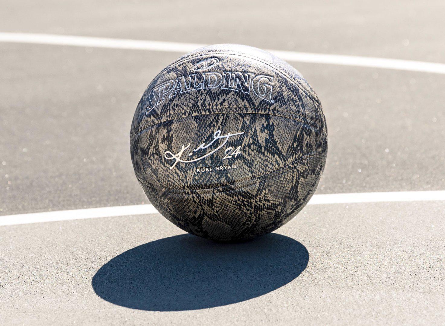 斯伯丁推科比限量版篮球! 蛇皮元素+24号印记
