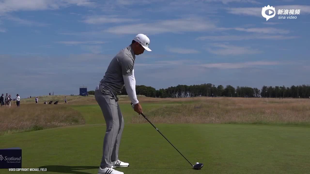 视频-高尔夫挥杆教学 李昊桐挥杆慢动作