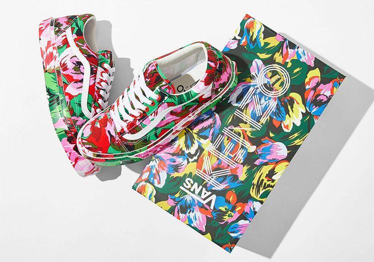 花卉鞋面太像艺术品!KENZO x Vans 联名现已发售!