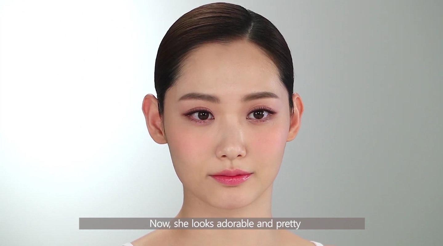 JUNGSAEMMOOL化妆课 可爱新娘妆part3 睫毛眉毛唇妆 腮红