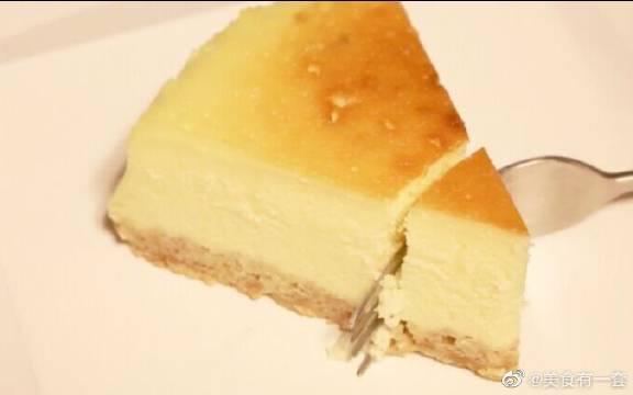 纽约芝士蛋糕,入口即化的口感