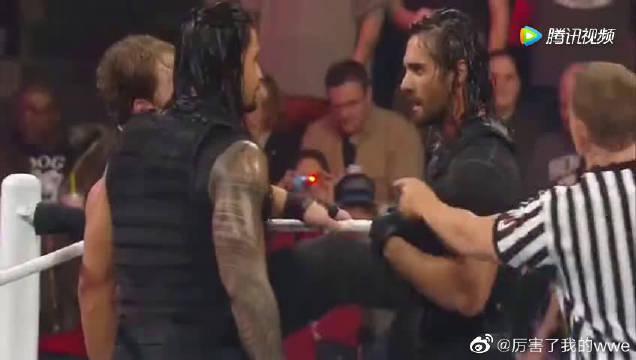 WWE:罗林斯身先士卒,圣盾与怀亚特家族是宿敌交战!