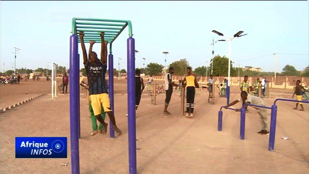 中国为布基纳法索首都瓦加杜古建设健身广场