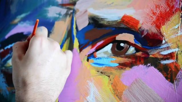 用表现主义绘画朱塞佩·威尔第肖像……