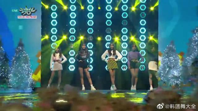 音乐银行圣诞特辑舞台!AOA女团现场热舞表演《Bingle Bangle》