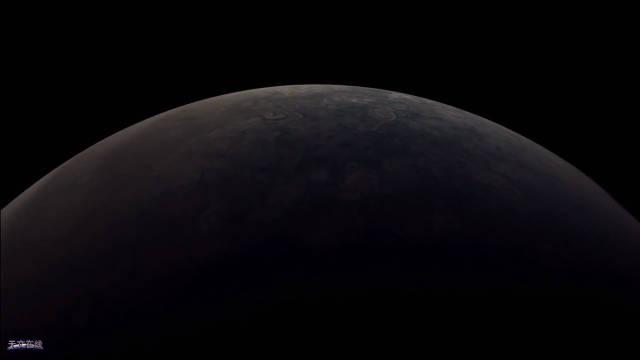 太壮观了!这就是朱诺号第27次飞跃木星,其表面酷似油画
