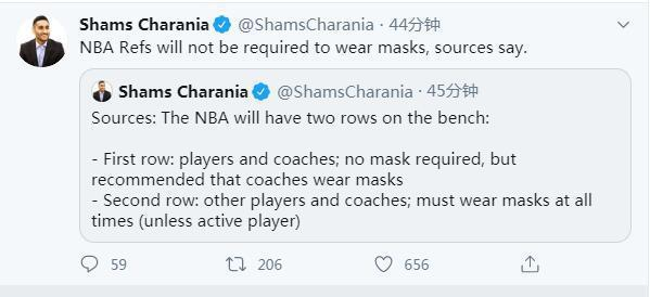 复赛后联盟建议教练戴口罩! 裁判不需要佩戴