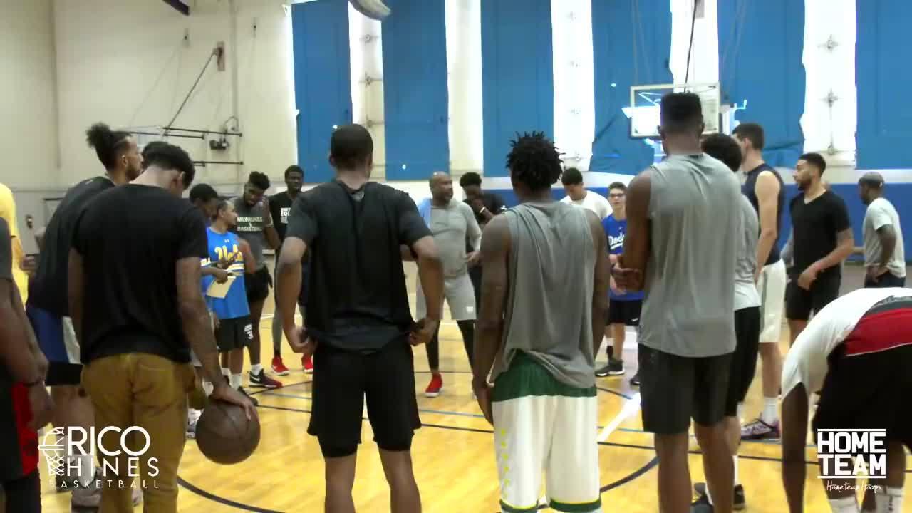 德文-布克UCLA高质量球局。詹宁斯、兰多夫等NBA知名球员参战!