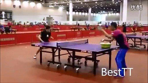 乒乒乓乓 乒乒乓乓! 苏州世乒赛秦志戬给马龙喂反手多球