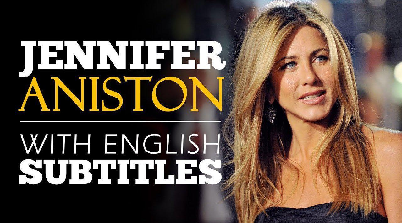 英文演讲:詹妮弗·安妮斯顿《找到你的声音》(英文字幕)
