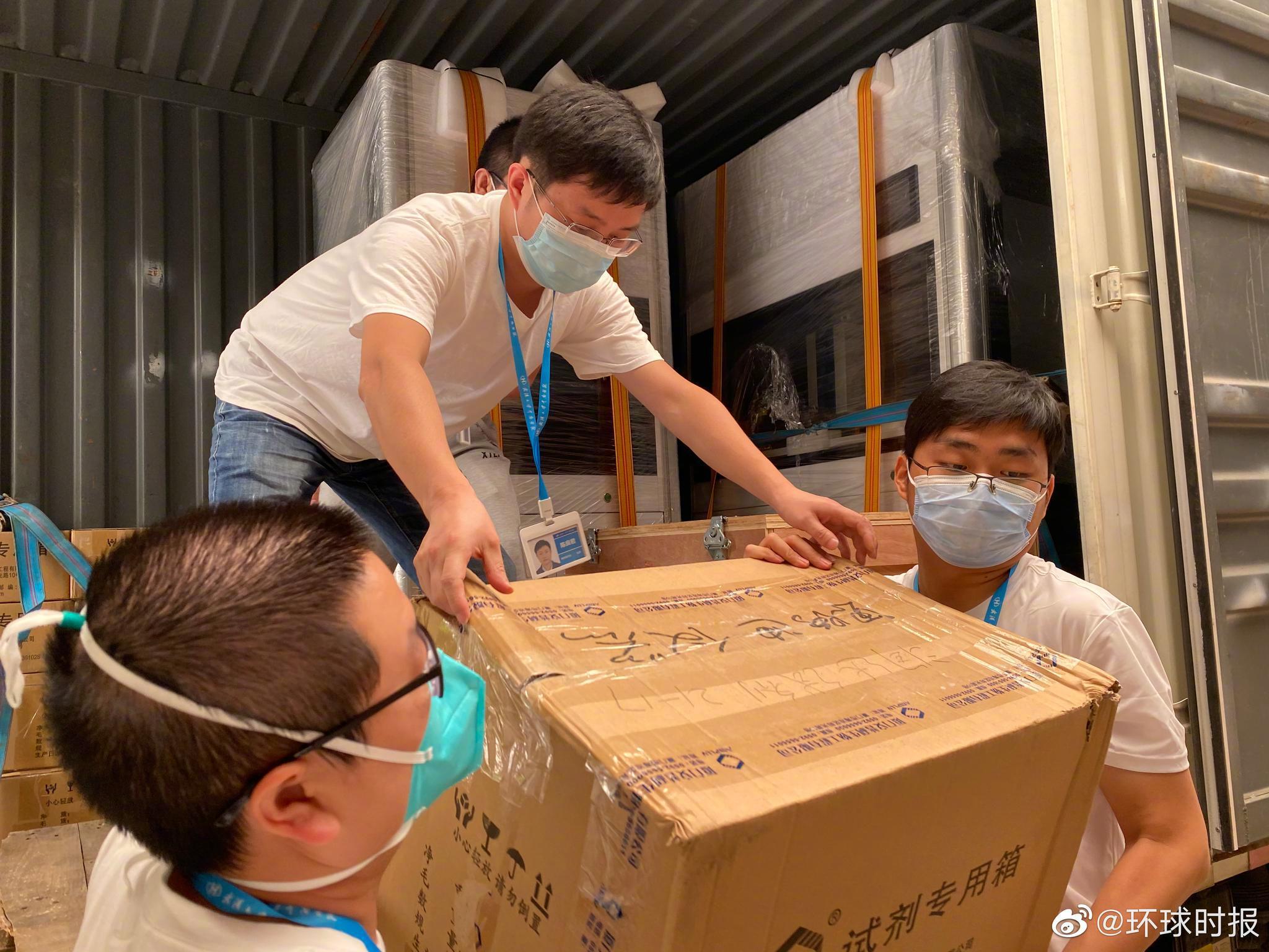 「杏悦登录」武汉战疫核酸检测神器驰援杏悦登录北京图片