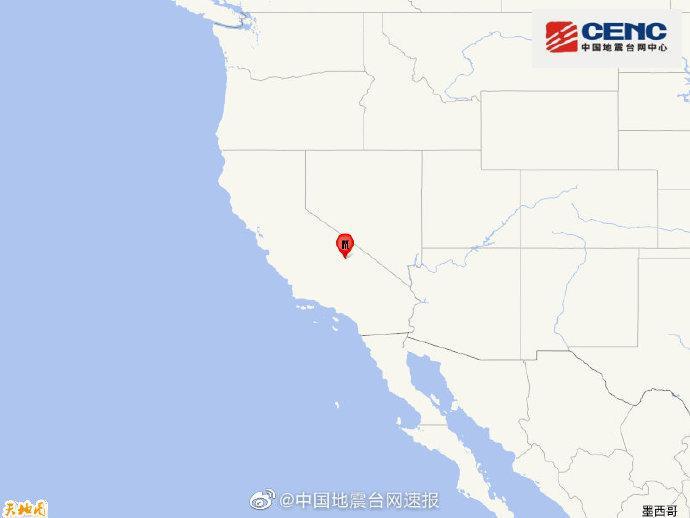 美国加利福尼亚州发生5.8级地震,震源深度10千米
