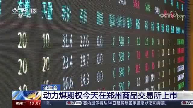 动力煤期权今天在郑州商品交易所上市