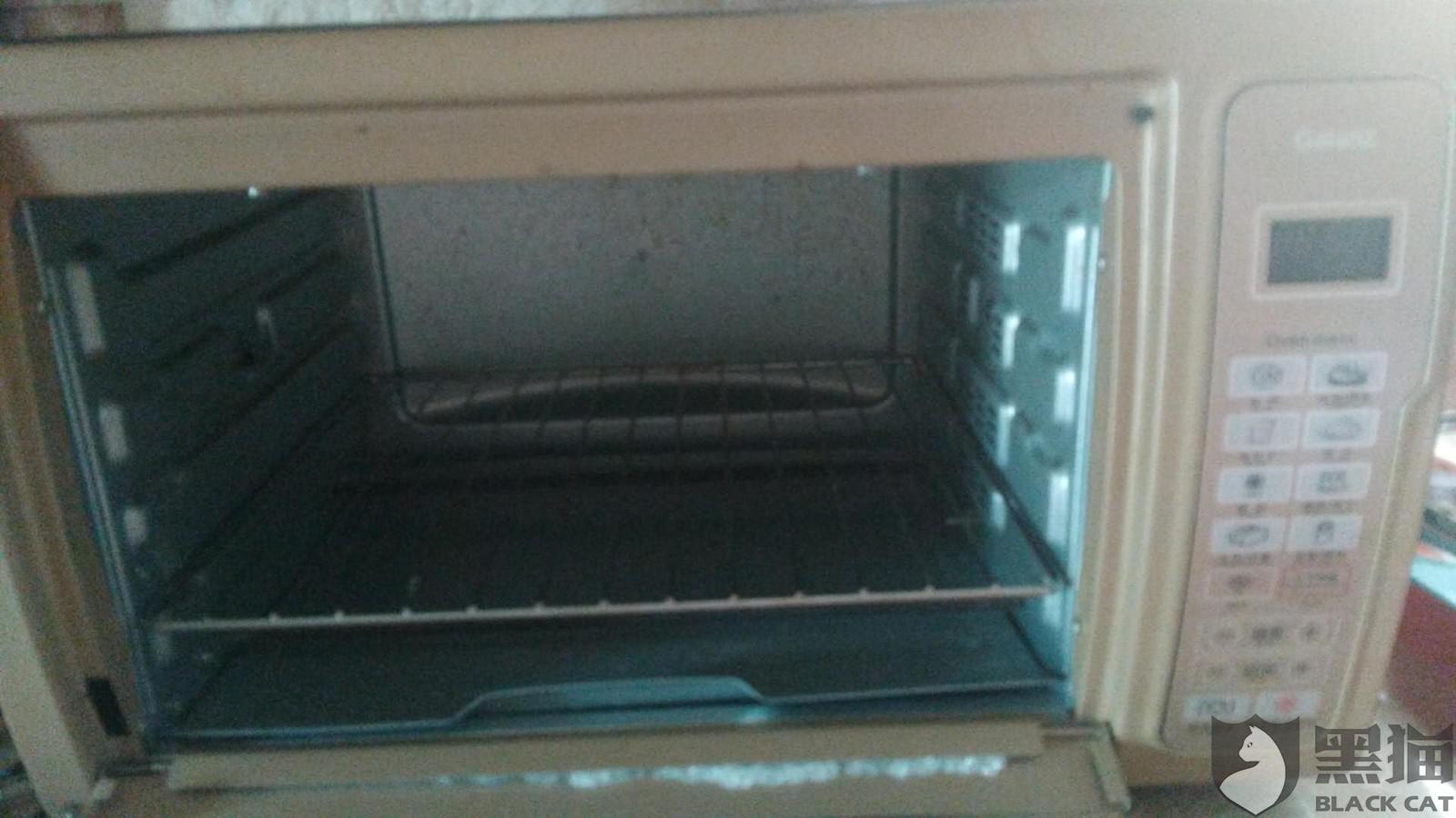黑猫投诉:格兰仕电烤箱在烤制过程中玻璃门突然爆裂