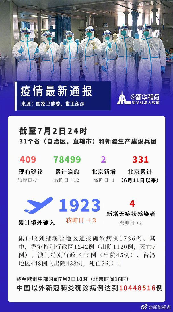 「天富官网」截至7月2日24时疫情天富官网最新数据图片
