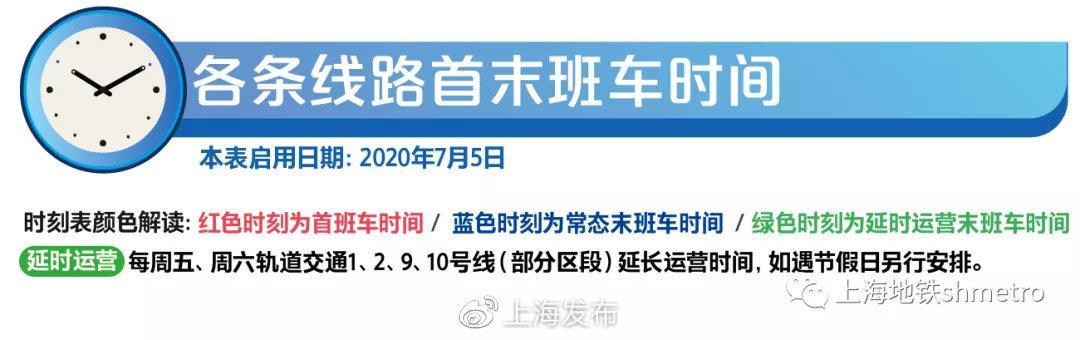 杏悦平台:上海地铁首末班车时刻表请收好杏悦平台图片