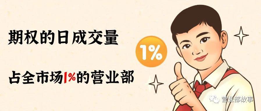 期权的日成交量占到全市场的1%的营业部是怎么做期权的?