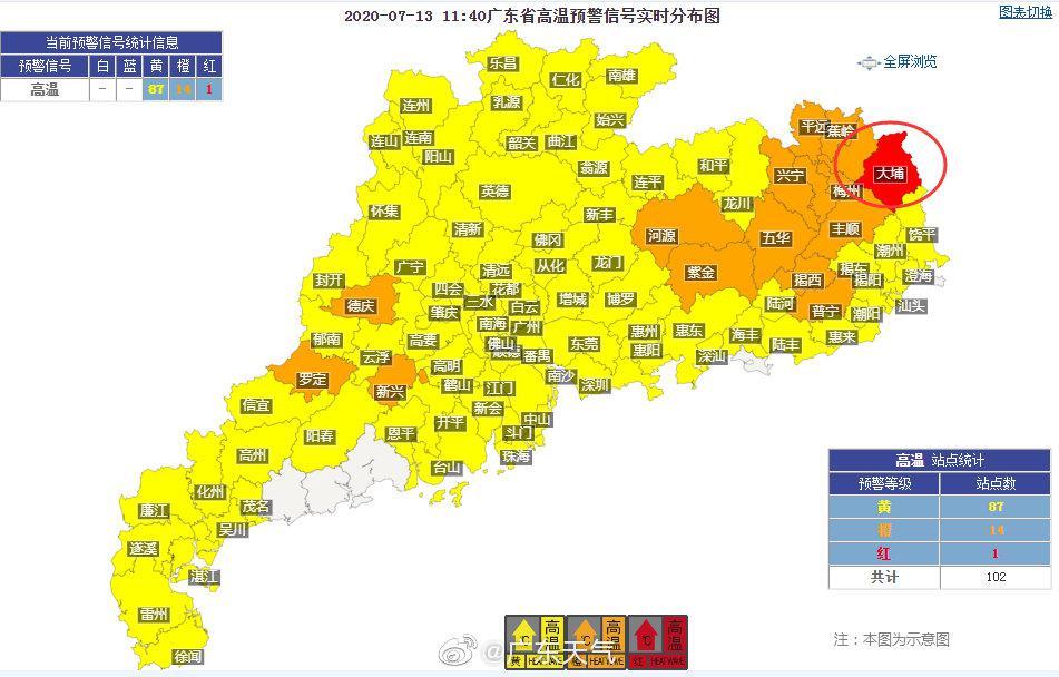 广东天气预警