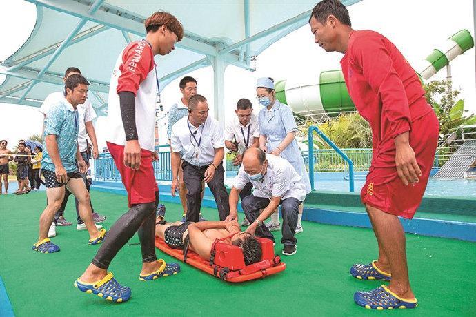 象山举行应急救援演练 针对水上大型游乐设施开展