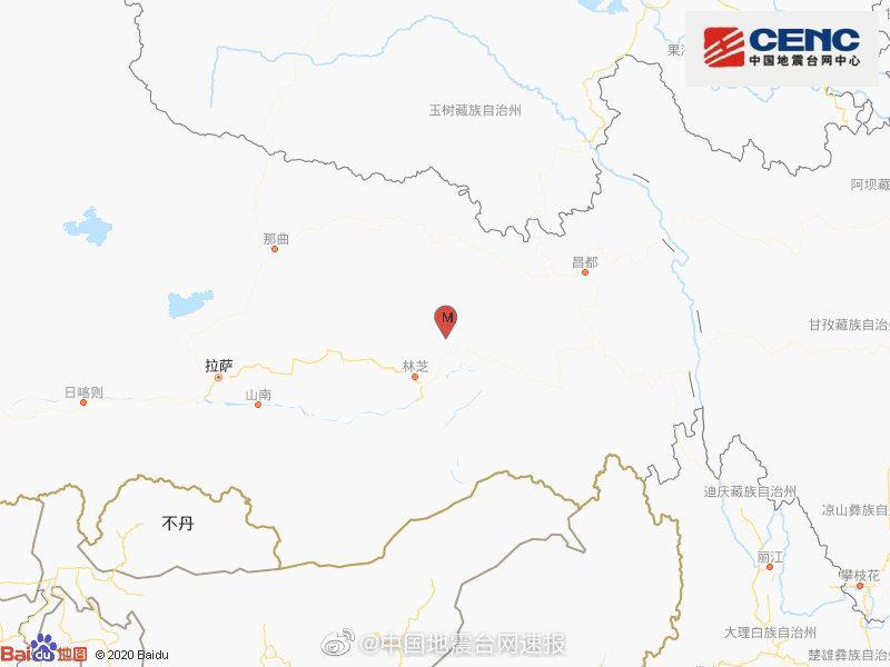 【杏悦】藏林芝市波密县发生34级地杏悦震图片