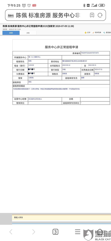 黑猫投诉:上海华瑞银行联合青客公寓诱骗消费者签署租金贷,退房后未结束贷款,无法联系到银行
