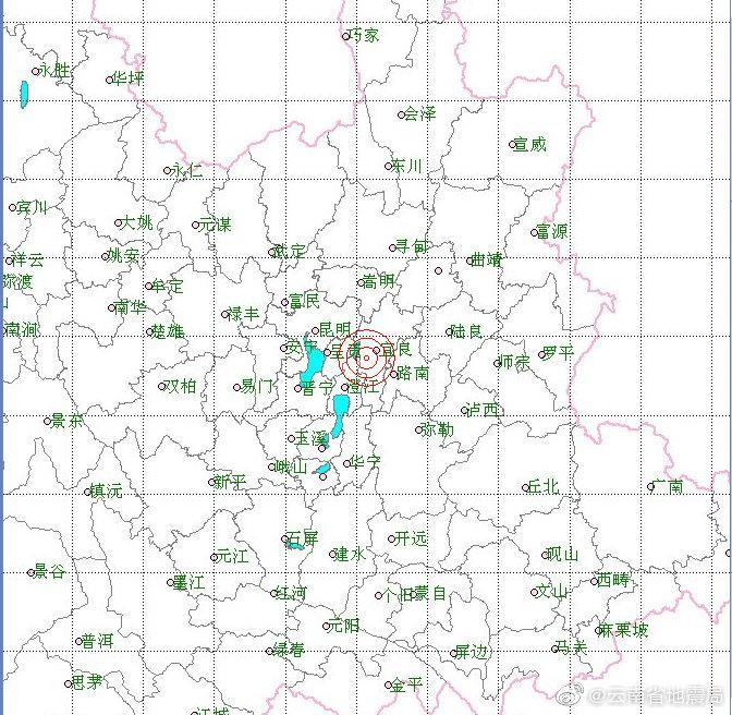 【杏悦】南省昆明市杏悦宜良县发生27级地震震源深度图片