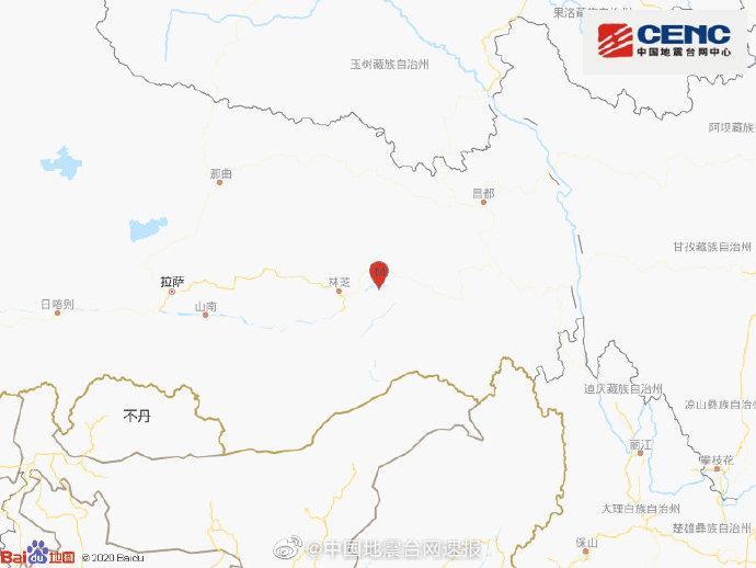 西藏林芝市巴宜区发生3.8级地震,震源深度10千米图片