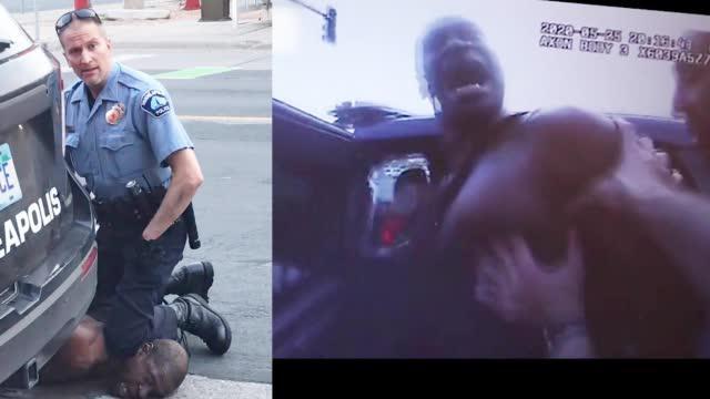 黑人之死执法记录仪首次曝光:哭着被拽出警车、遭跪压数次求饶大喊妈妈