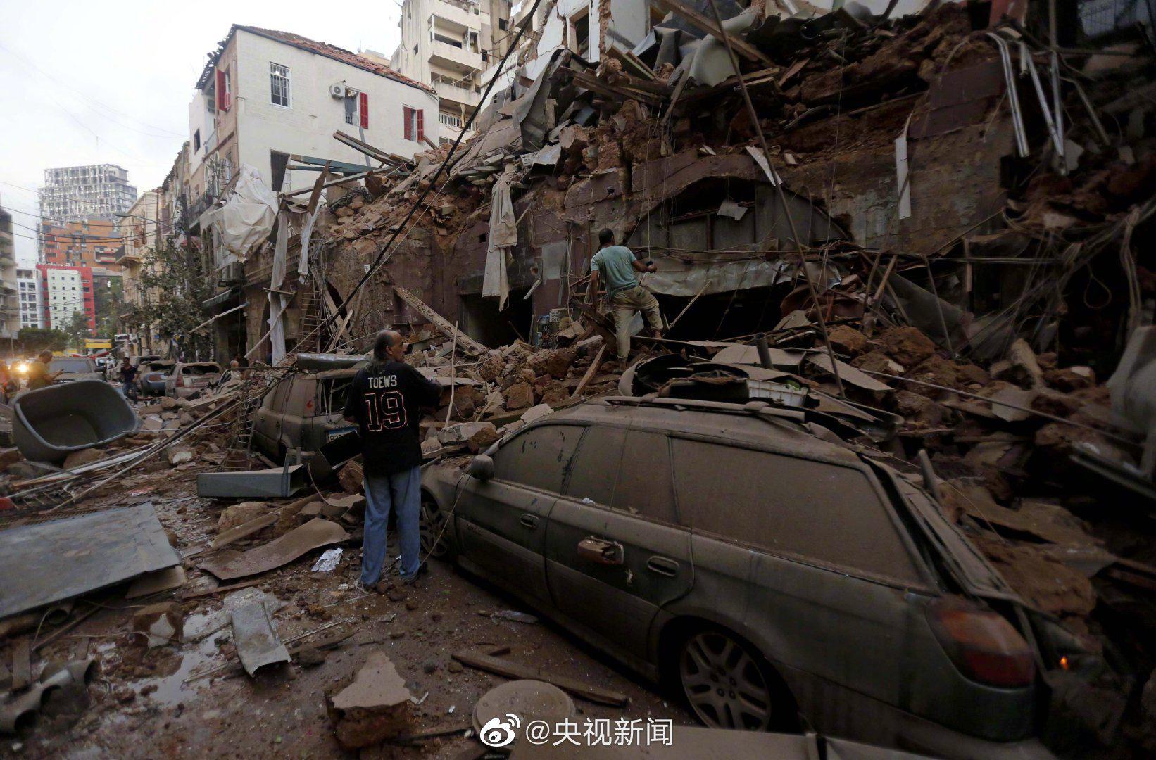 黎巴嫩首都爆炸致135死5000伤 另有数十人失踪