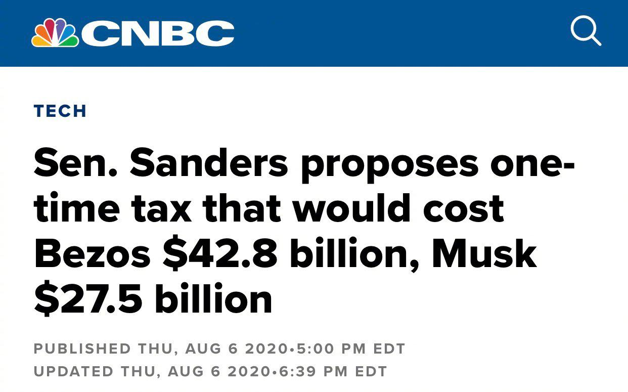 疫情期间美富翁财富大幅增长 美参议员:征税!