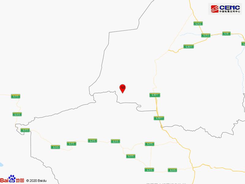 甘肃酒泉市阿克塞县发生2.9级地震