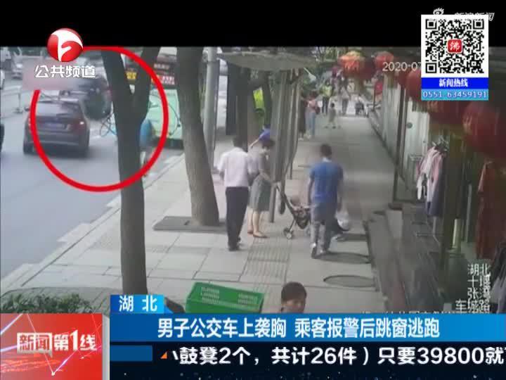 《新闻第一线》湖北:男子公交车上袭胸  乘客报警后跳窗逃跑
