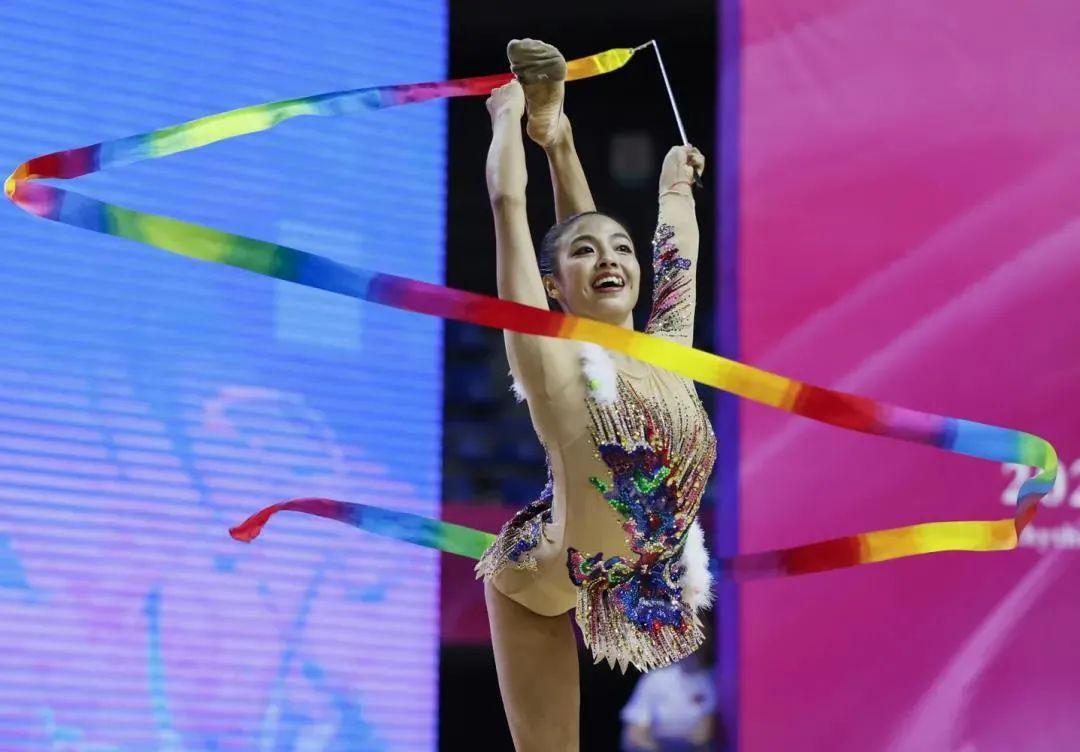 艺术体操队模拟实战收获多:目标站上奥运领奖台