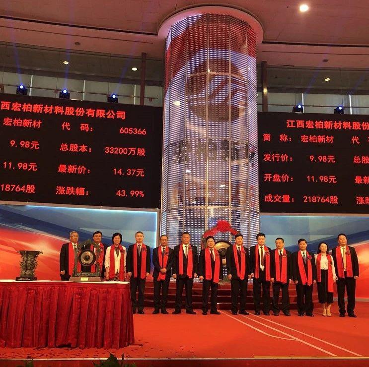 宏柏新材上交所上市:市值48亿 实控人为三位中国台湾人