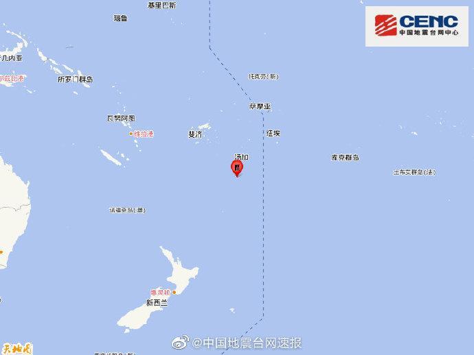 汤加以南地区发生5.1级地震,震源深度10千米
