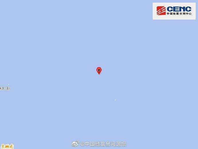 复活节岛地区发生5.7级地震,震源深度10千米