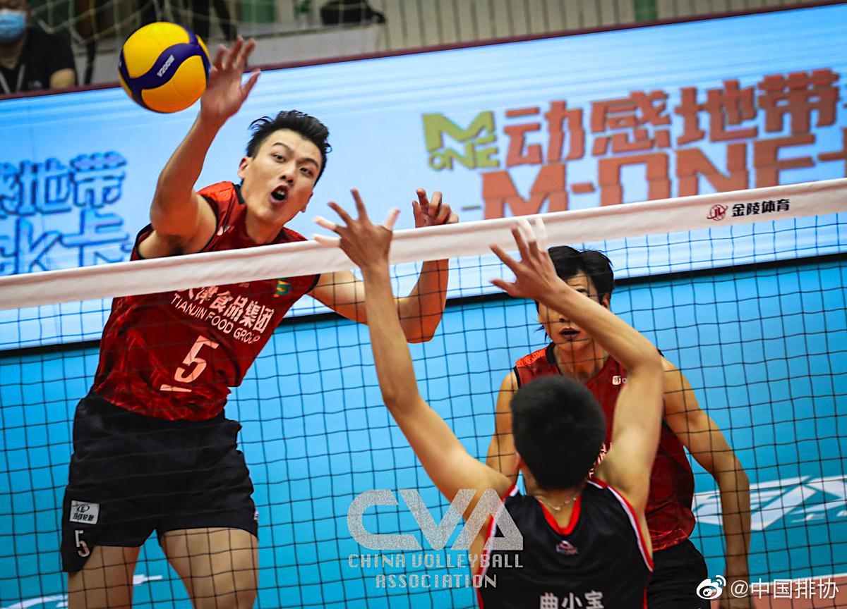 天津男排3-1辽宁实现联赛双杀 力保G组小组第一