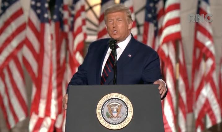 特朗普正式接受提名成为美国共和党总统候选人